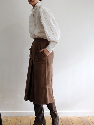 70s suede skirt