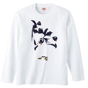 [ロングスリーブTシャツ] Penguin dancing