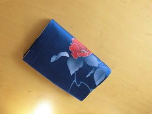 新書本サイズ綺麗な使用浅小紋着物からブックカバー