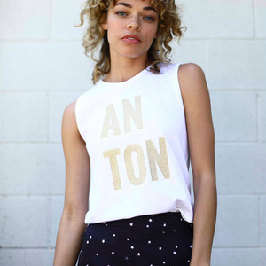 ANTON SLEEVELESS TEE (gold) TNH19100-04