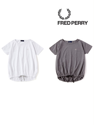 FRED PERRY フレッドペリー F5280 裾リボン付きPique T-Shirt NAVY