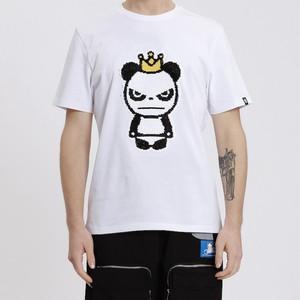 【HIPANDA 】メンズ Tシャツ【NEW】MEN'S SEQUINS KING PANDA SHORT SLEEVED T-SHIRT / WHITE