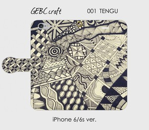 【iPhone】手帳型スマホケース「001 TENGU」