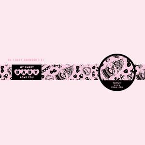 BABY Snowdome(ブラック) - マスキングテープ