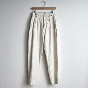 suzuki takayuki スズキタカユキ  tapered pants   テーパードパンツ S211-29 nude (レディース)