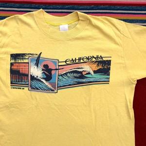 80's CALIFORNIA ©1982 カリフォルニア ビンテージ Tシャツ(イエロー,L程度)
