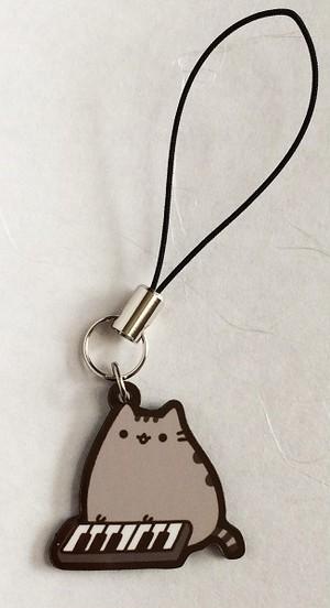 ★キーボード&プシーンのストラップ【Pusheen the cat】