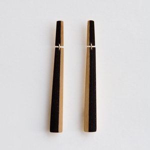 """CAKE"" Bamboo stud earrings"