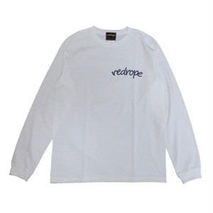 【LOGO L/S TEE】white/charcoal