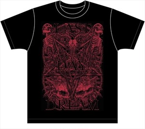 "LAST DAY DREAM ""PENTAGRAM"" T-shirts (BLACK & RED)"