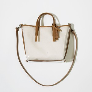 CECILY SMALL SHOULDER CANVAS / beige leather【MORROW】