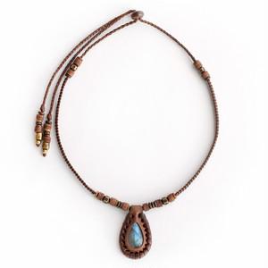 original.no.195 necklace / choko labradorite