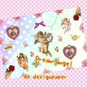 オリジナルデザインペーパー dream angel 10枚入り