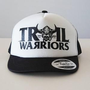 【在庫限りで販売終了】Short Visor Trucker Mesh Cap / TW / White / Black / Black