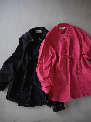 BLACK WEIRDOS / Modern China Shirt   ( Pink / Black )