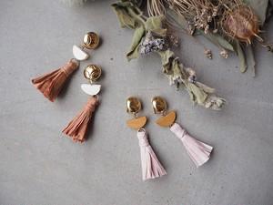 peparfringe gold pierce/earrings