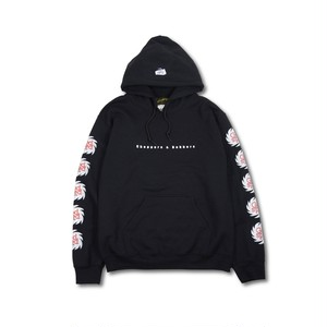 GOODSPEED equipment EVILACT(イーブルアクト) / Splash Logo Hoodie (black)