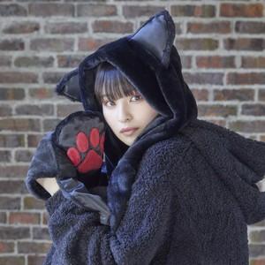 【mew】猫耳フードマフラー