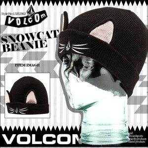 L5852002 ボルコム キッズ ビーニー キャップ SNOWCAT BEANIE 人気 ブランド おすすめ 入学 就職 プレゼント ギフト ニット帽 VOLCOM