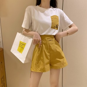 2020SS ボタン付ハイウエストパンツ+Tシャツ