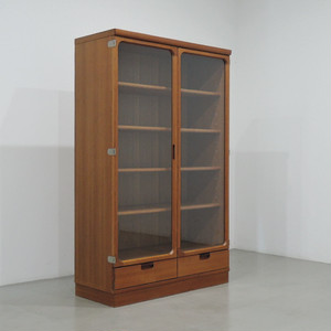 teak glass cabinet made in japan