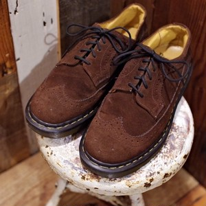 DR. MARTENS 3989 BROGUE SHOES / BROWN SUEDE / Made in ENGLAND ドクターマーチン ウィング チップ