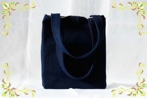 藍染めのミニトートバッグ