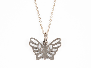 STANDARD CALIFORNIA SD スタカリ スタンダードカリフォルニア  Made in USA Butterfly Necklace Silver