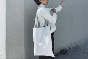 flat tote/WHITE