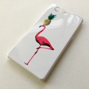 Pineapple flamingo/スマホケース