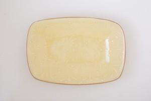 黄釉 スリップウェア 大皿