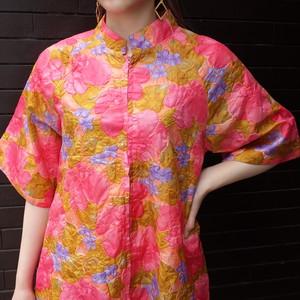 70`s flower quilting dress 70年代 花柄キルティングワンピース