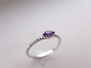 アンティーク風 アメジストsilver ring