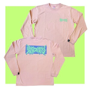 NEW LOGO LONG-SLEEVE SHIRT / OFF PINK