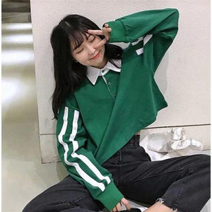 2020年 レトロ♡ロングスリーブラインTシャツ♡ 長袖Tシャツ
