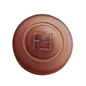 【VINTAGE FENDI BUTTON】ブラウン ロゴ ボタン 18mm F-19023