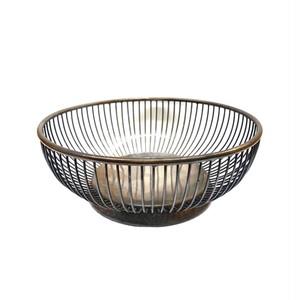 丸い金属カゴ(sa253)