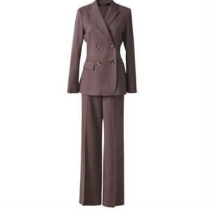 スーツセットアップストライプジャケット+パンツ
