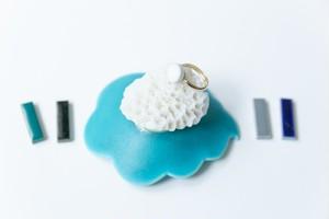 002-r 伝統文化品美濃焼多治見丸タイル指輪・リング(フリーサイズ) ※証明書付