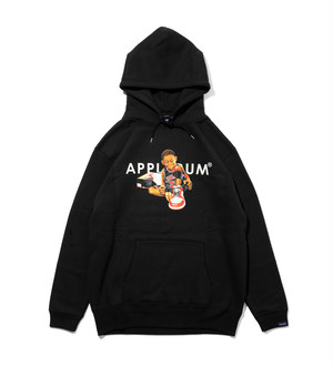 "【APPLEBUM】アップルバム AJ ""CHICAGO"" Boy Sweat Parka (BLACK) スエットパーカー"