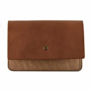 forme hand wallet combi Liscio camel