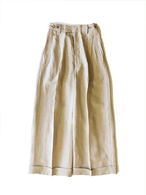 Linen wide pants Beige / Luxluft