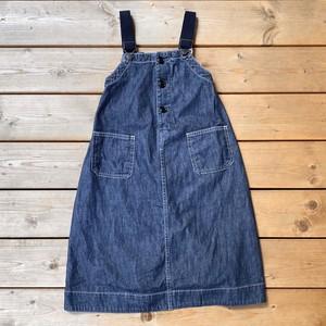 Denim Dungaree / (140) 8oz Denim Jumper Skirt