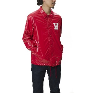 CORTED NYLON COACH JACKET - RED