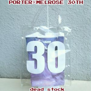 【限定】デッドストック/ポーターPORTER×メンズメルローズMEN'S MELROSE/30周年記念/クリア/ビニールトート/Tシャツ/セット/4/