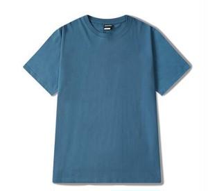 3着セットメンズシンプル半袖Tシャツ。コットン素材ユニセックスOK5色ブルー/グリーン系