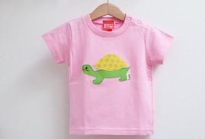 かめアップリケTシャツ YG/LG