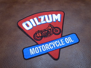 Oilzam MOTORCYCLE OIL Vintage Patch