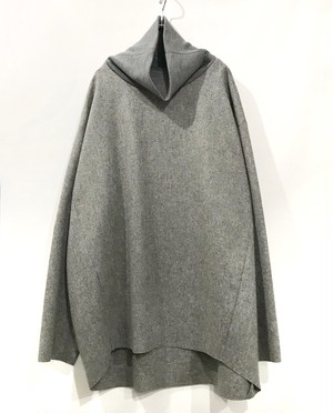 my beautiful land let 断ち切りwool turtleneck  gry