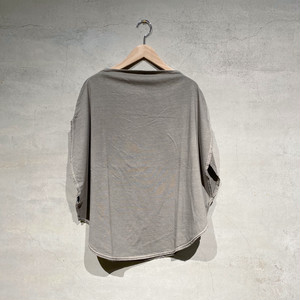 【COSMIC WONDER】Beautiful organic cotton circle T-shirt/Light sumikuro/11CW02051-3